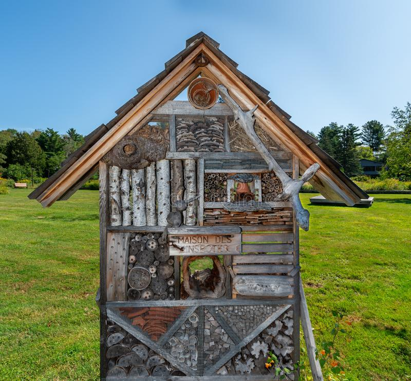 Insect house in summer royalty free stock images