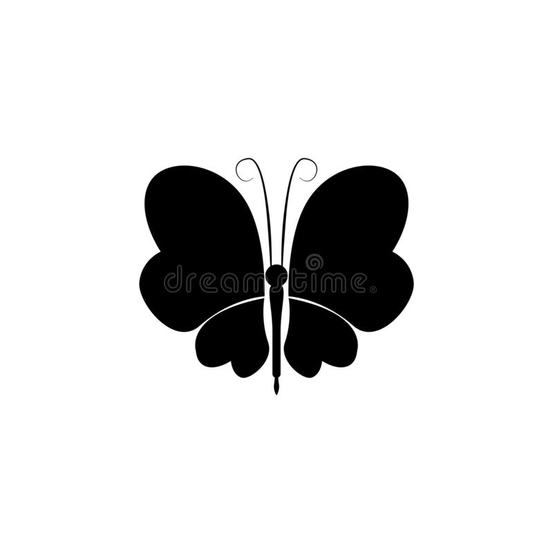 Insect icon vector. butterfly vector graphic illustration stock illustration