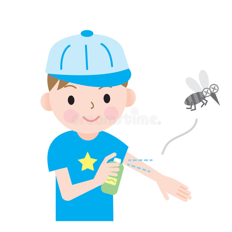 Insect Repellent Kids Stock Photo - Image: 74700231
