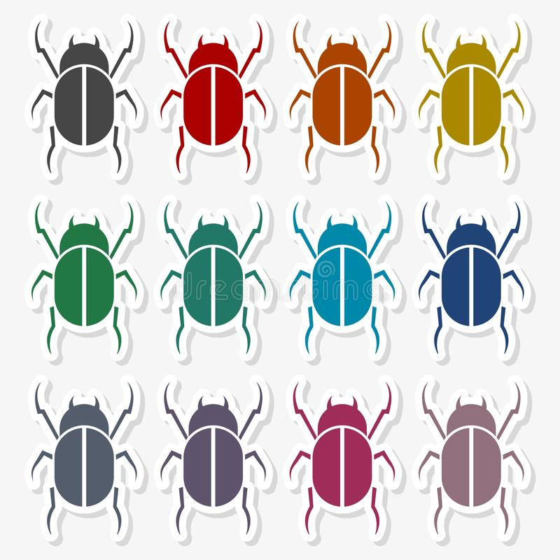 Insect Silhouette - Illustration. Vector icon royalty free illustration