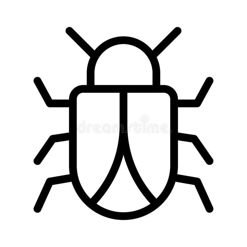 Insect stick vector thin line icon royalty free illustration