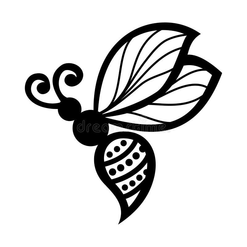 Insectbij royalty-vrije illustratie