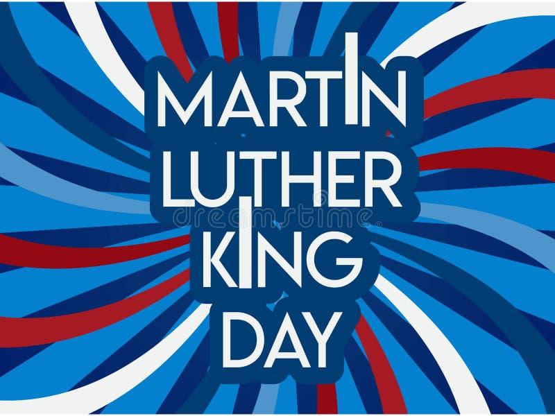Insecte, bannière ou affiche de Martin Luther King Day Fond de vacances avec les drapeaux, le texte et les mains de ondulation  I illustration de vecteur