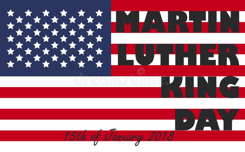 Insecte, banni?re ou affiche de Martin Luther King Day Fond de vacances illustration de vecteur