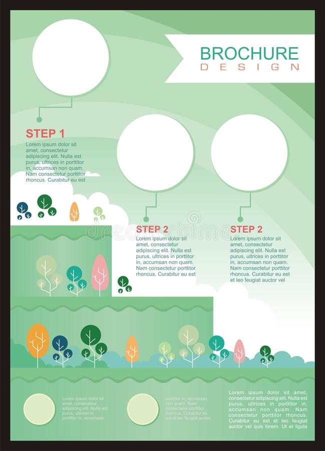 Insecte - brochure avec le style de bande dessinée illustration stock
