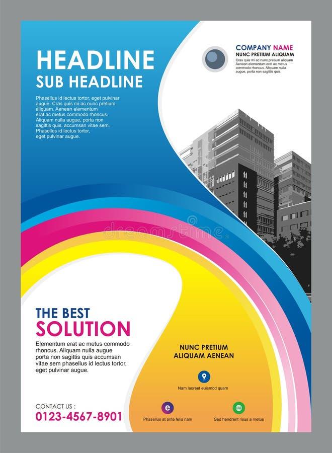Insecte - calibre de brochure avec la conception élégante de vague illustration de vecteur