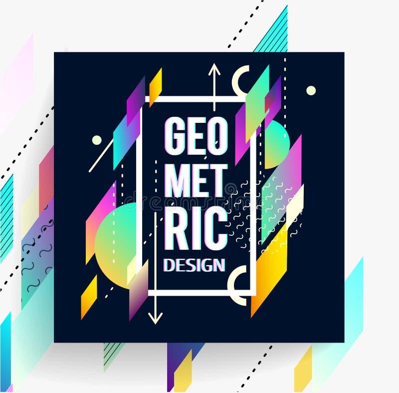 Insecte coloré abstrait géométrique illustration de vecteur