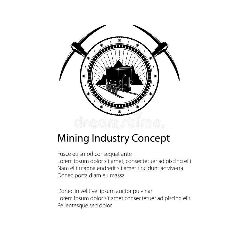Insecte de l'industrie minière illustration stock