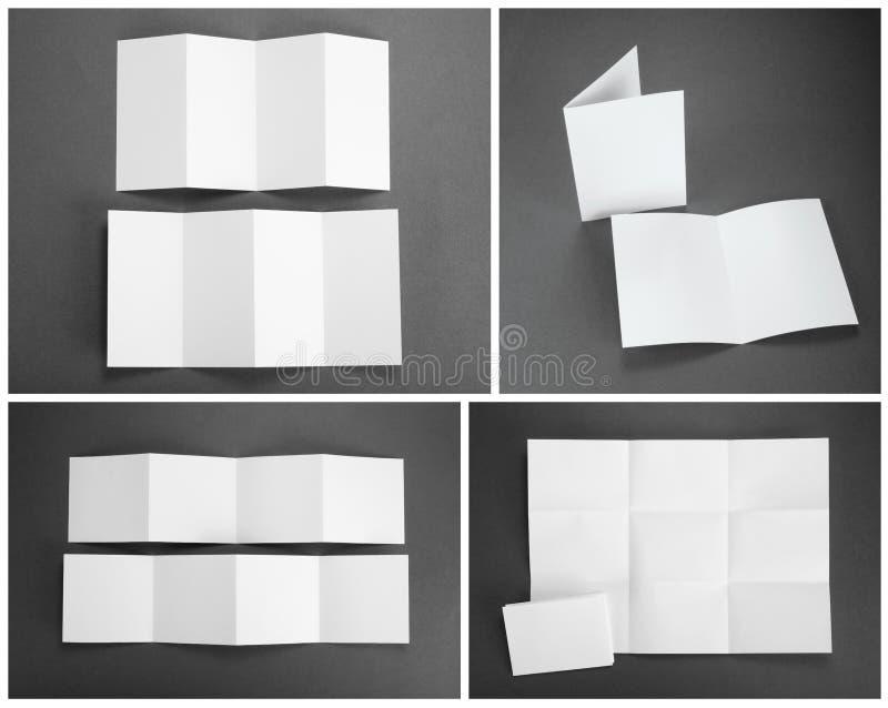 Insecte de papier se pliant blanc vide photo stock