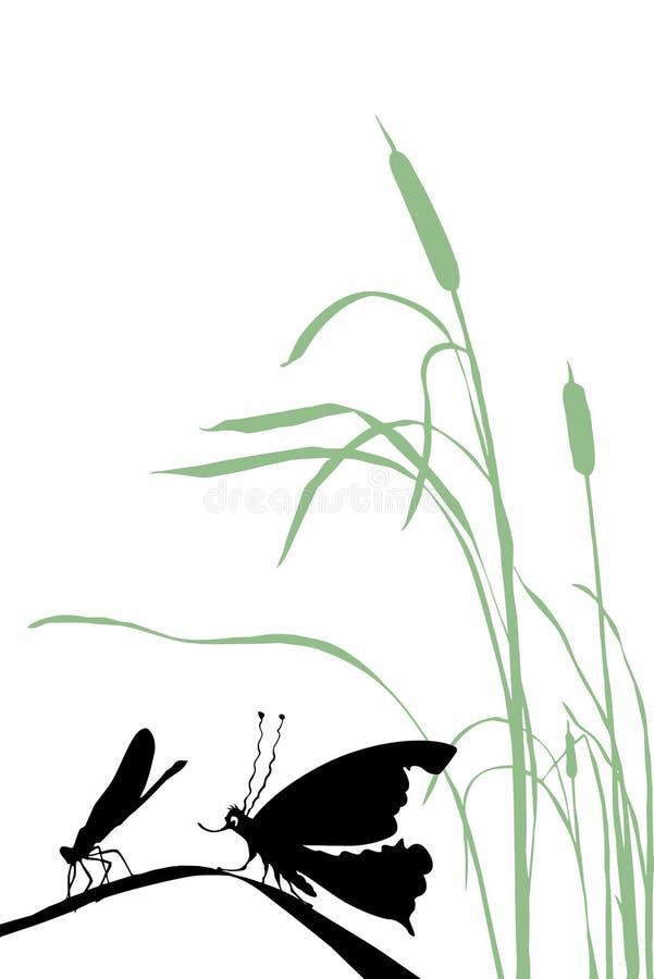 Insecte de silhouette de vecteur illustration de vecteur