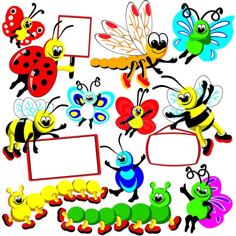 Insecte drôle réglé illustration libre de droits