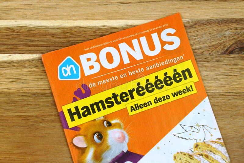 Insecte néerlandais de publicité d'Albert Heijn de supermarché photo stock