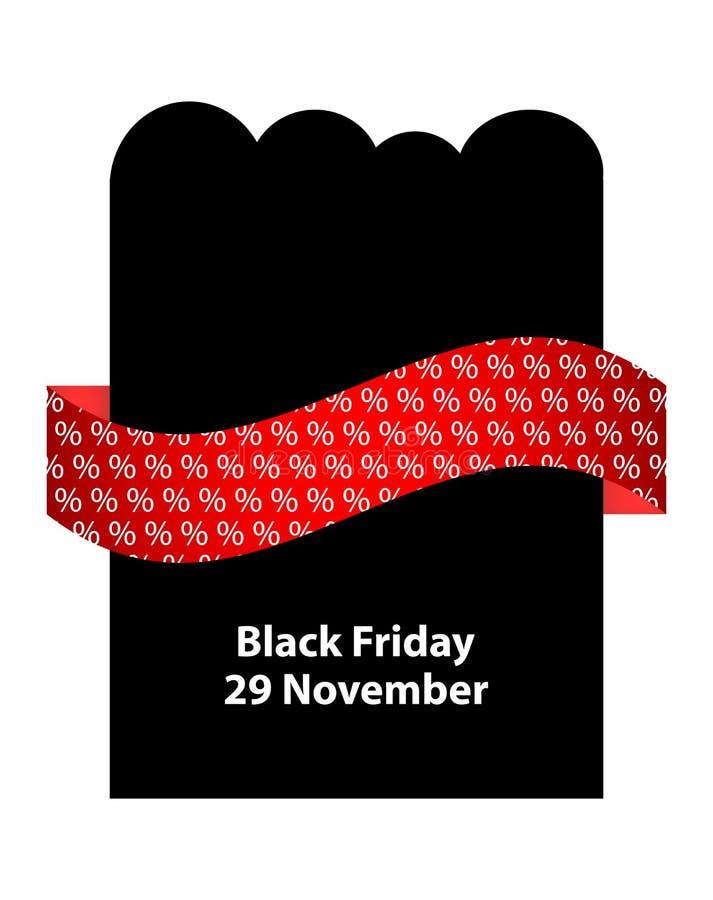 Insecte noir spécial de vendredi illustration de vecteur