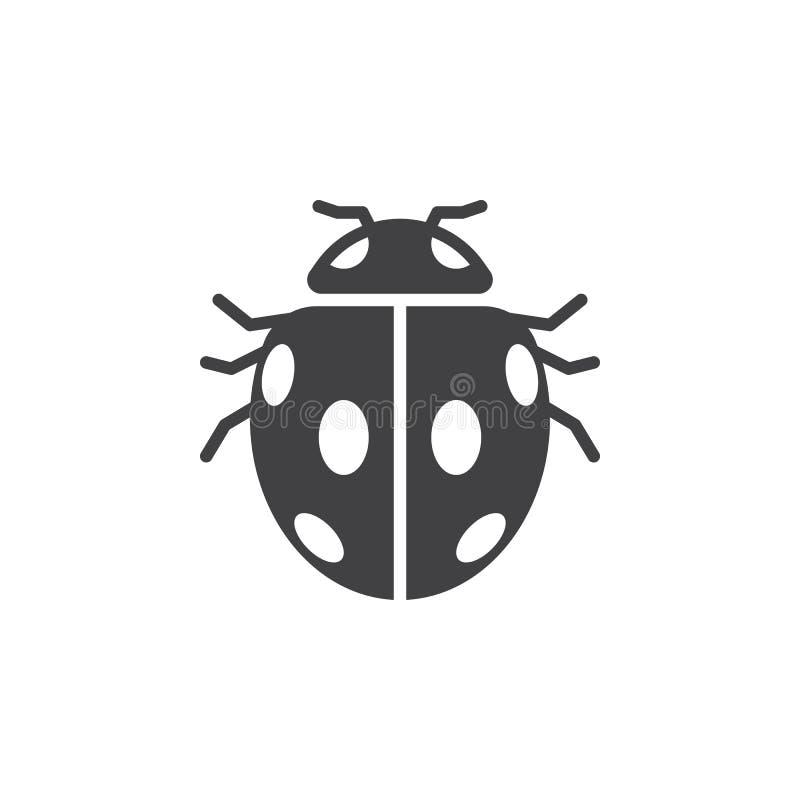 Insecte, vecteur d'icône de scarabée de coccinelle, illustration de vecteur