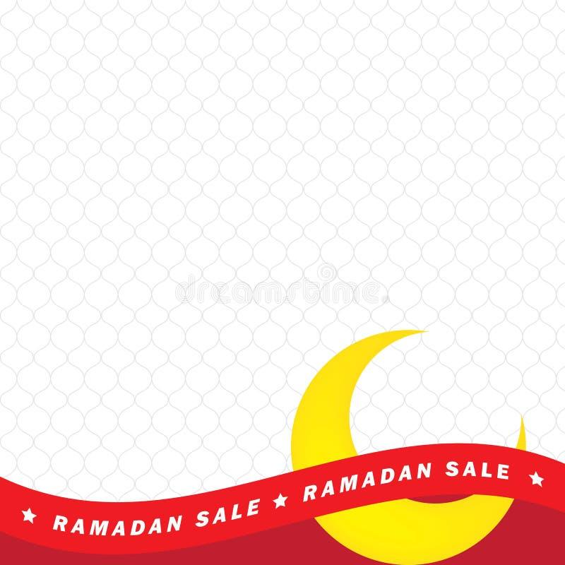Insecte, vente, remise, carte de voeux, label ou occasion de bannière de Ramadan Kareem et d'Eid Mubarak Celebration avec le ruba illustration libre de droits