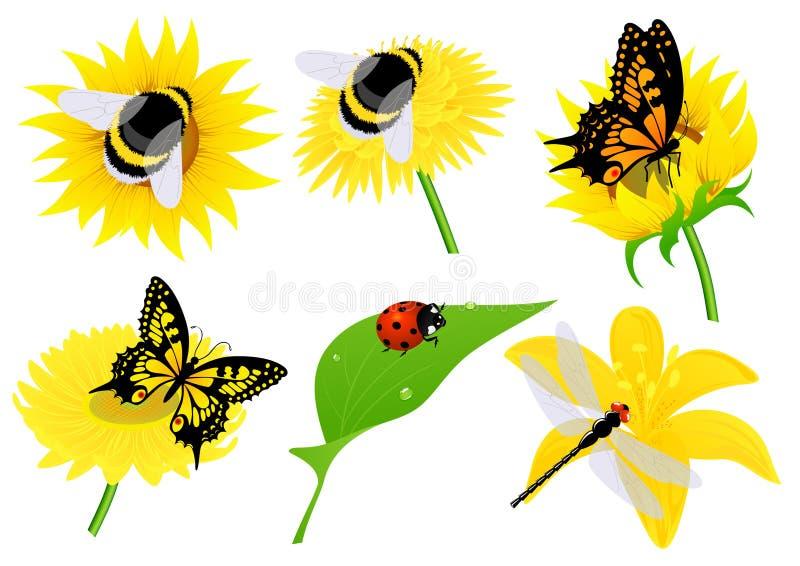 Insecten royalty-vrije illustratie