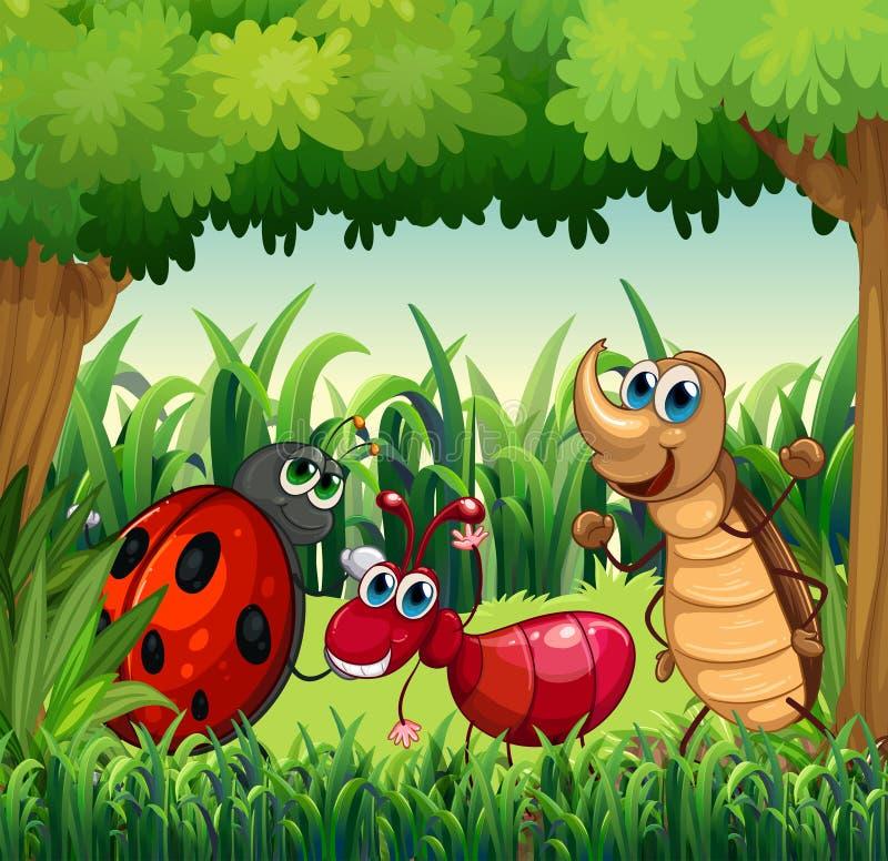 Insecten bij het bos royalty-vrije illustratie