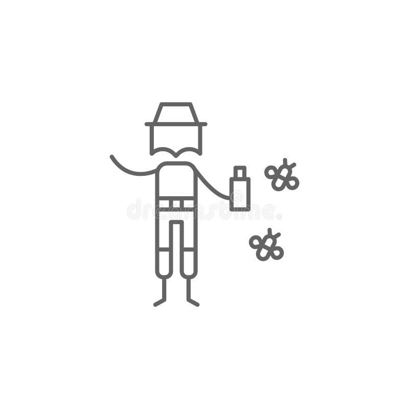 Insectenafweermiddel, avonturenpictogram Element van avonturenpictogram Dun lijnpictogram voor websiteontwerp en ontwikkeling, ap stock illustratie
