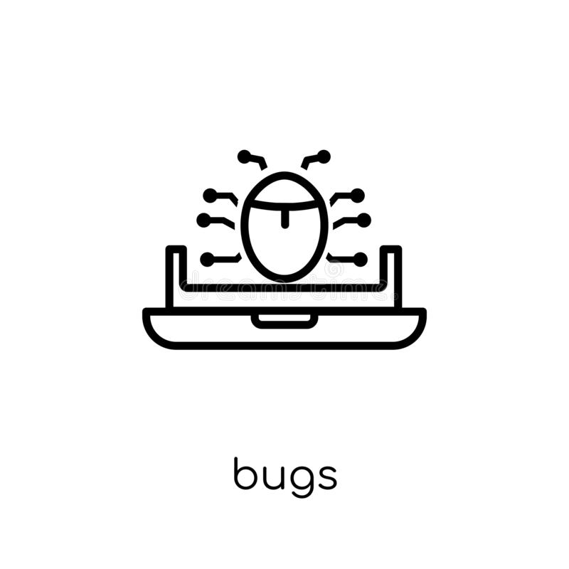 Insectenpictogram In modern vlak lineair vectorinsectenpictogram op witte B royalty-vrije illustratie