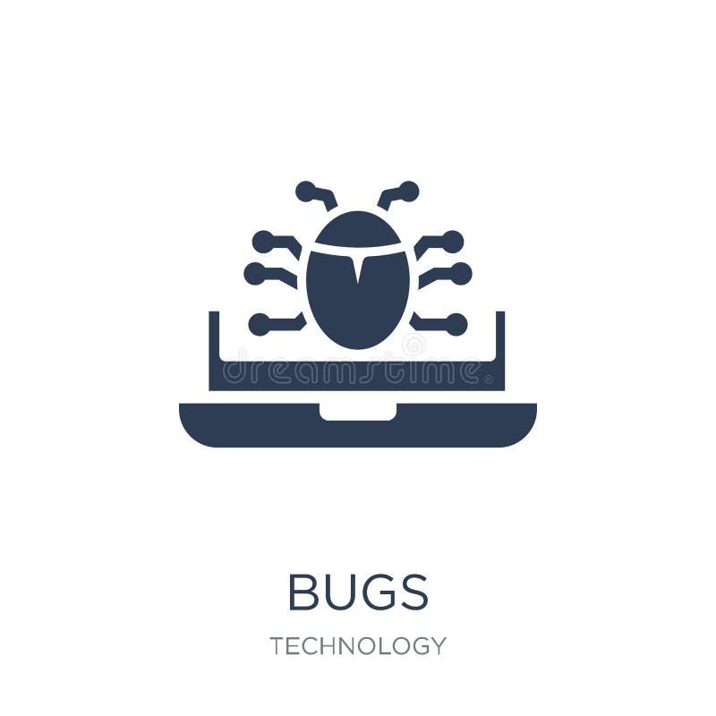 Insectenpictogram In vlak vectorinsectenpictogram op witte achtergrond van vector illustratie