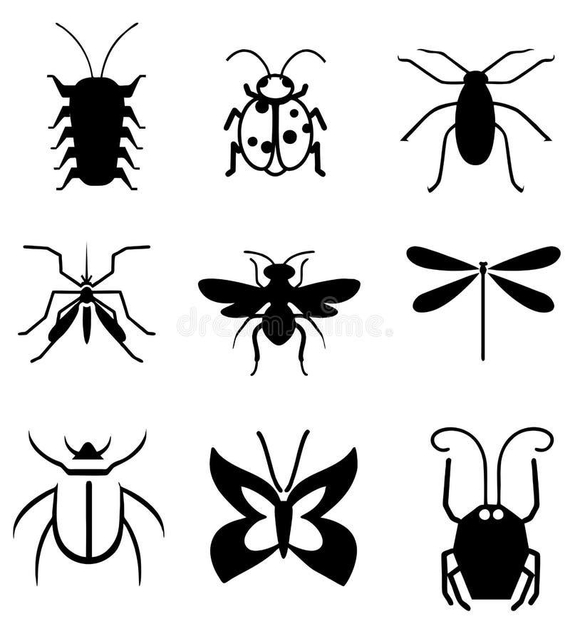 Insectenvector royalty-vrije illustratie
