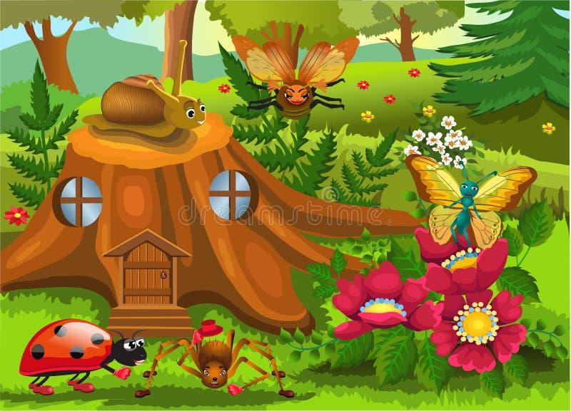 Insectenwereld vector illustratie