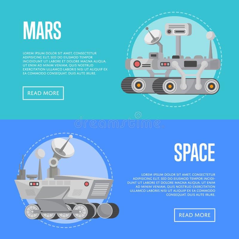 Insectes d'exploration de Mars avec des vagabonds de recherches illustration stock