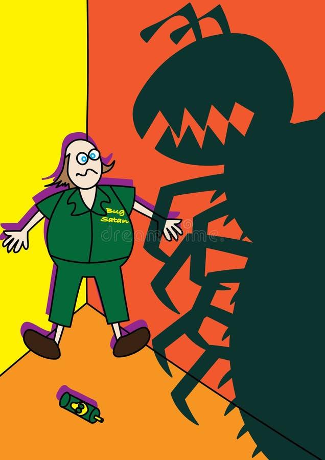 Insectes de combat de géant de monstre de travailleur de lutte contre les parasites illustration libre de droits