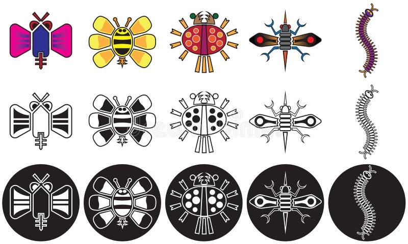 Insectes de fantaisie illustration stock