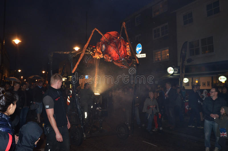 Insectes Down Roman Road At The Greenwich And Docklands International Festival 23rd June 2012 Editorial Stock Photo