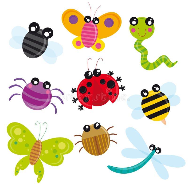 Insectes mignons illustration libre de droits