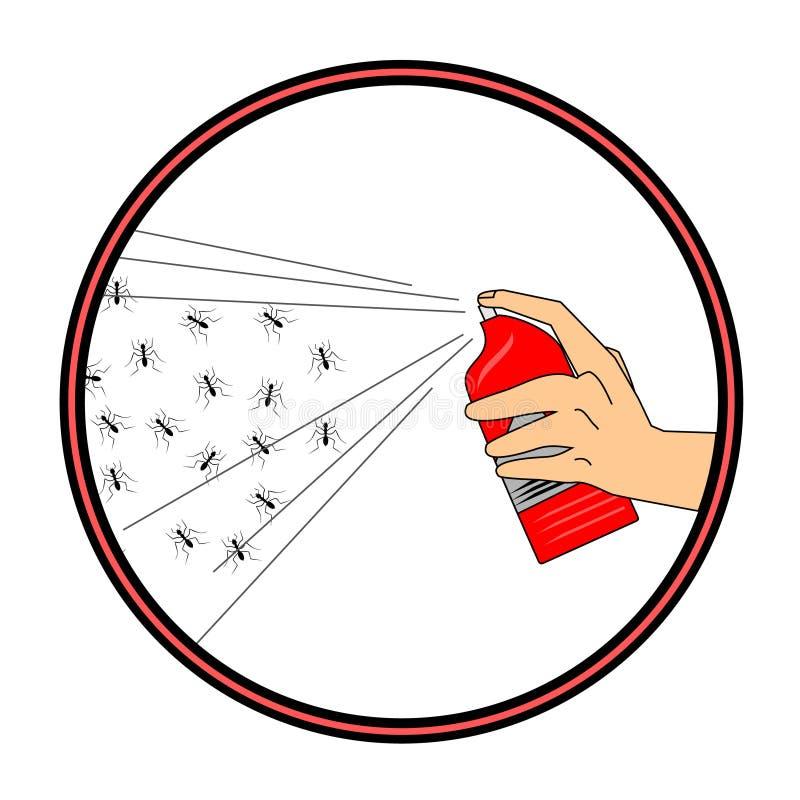 Insecticida ilustração do vetor