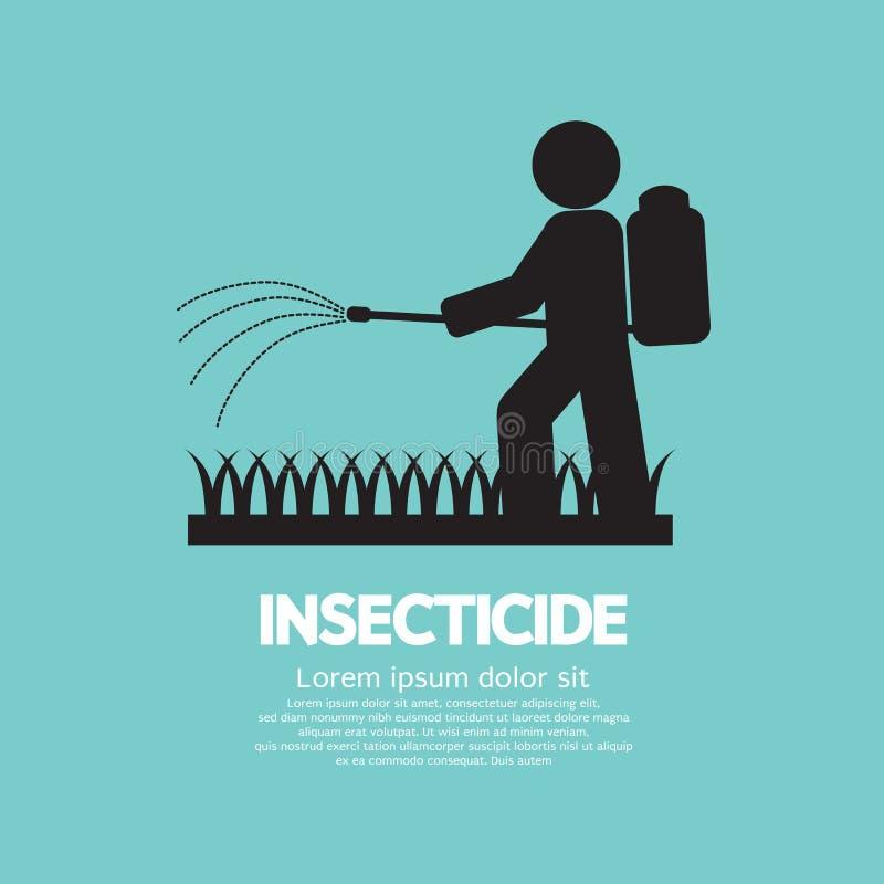 Insecticide de pulvérisation humain illustration stock
