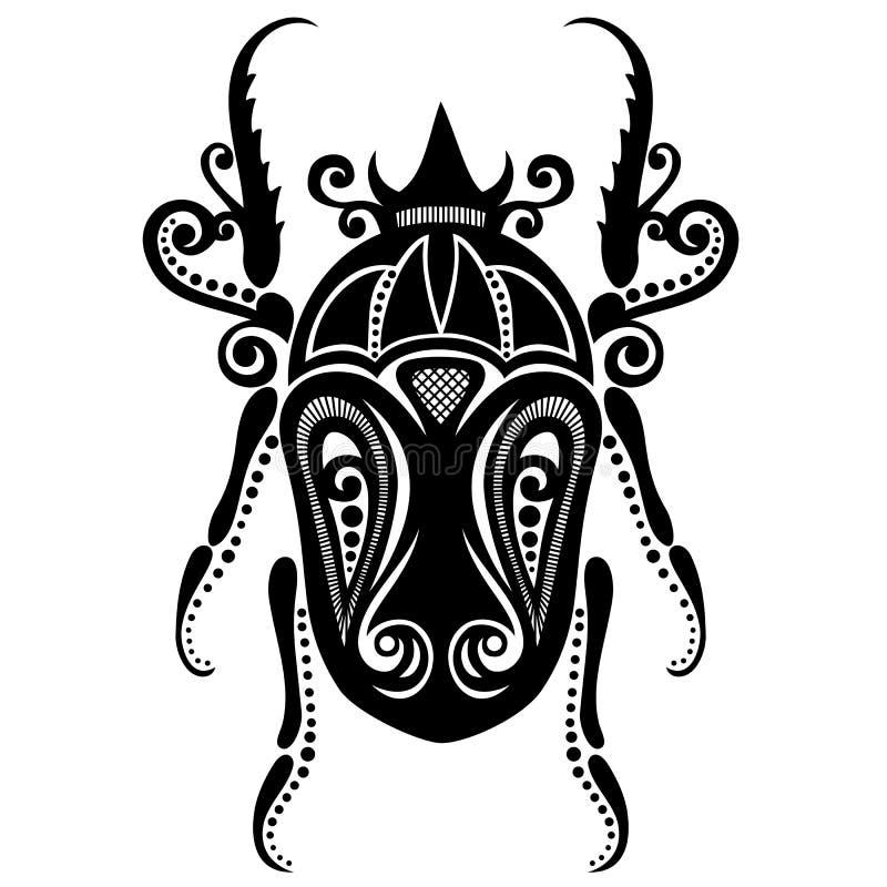 Insectkever royalty-vrije illustratie