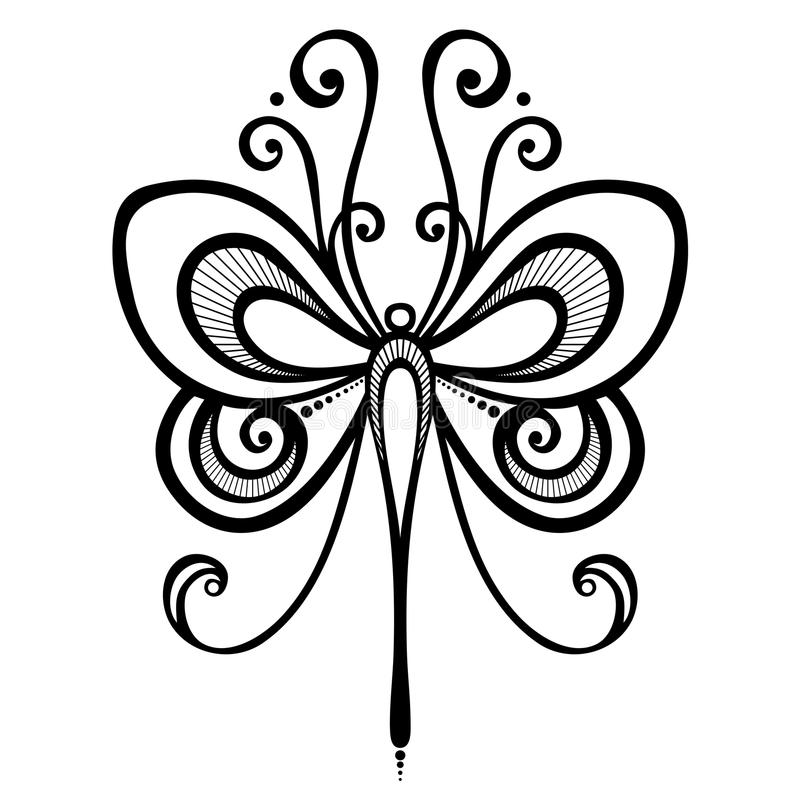 Insectlibel royalty-vrije illustratie