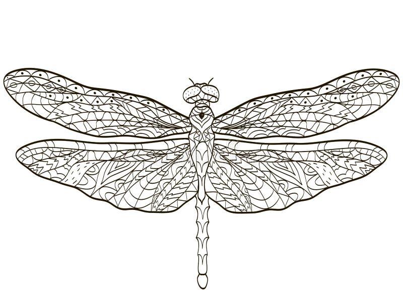 Insecto de la libélula del colorante del vector para los adultos libre illustration