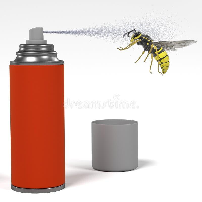 Insecto de la matanza del espray stock de ilustración