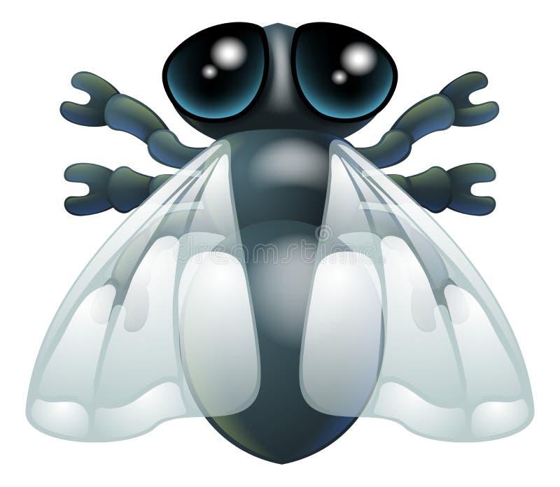 Insecto de la mosca de la historieta stock de ilustración