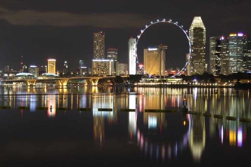 Insecto de Singapore por Porto Louro na noite imagens de stock