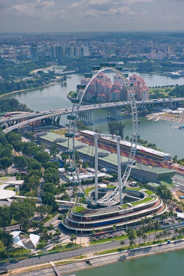 Insecto de Singapore, a roda de ferris a mais grande do mundo fotos de stock