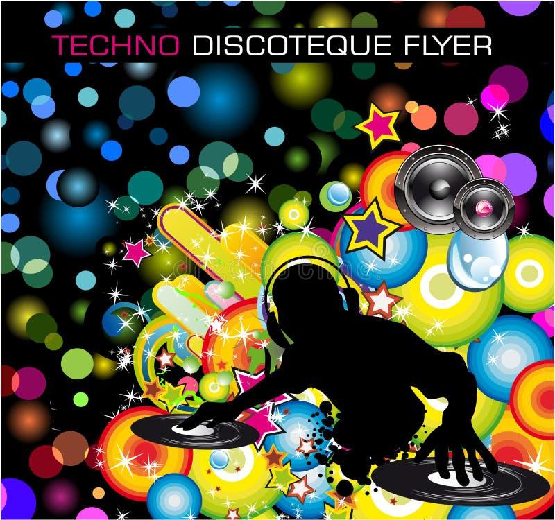 Insecto de Techno Discoteque ilustração do vetor