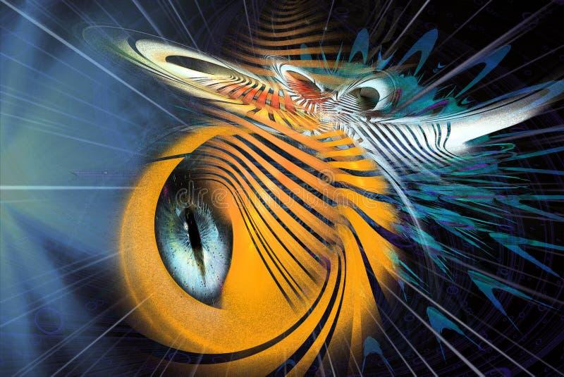 Insectoid Arte estrangeira do Fractal ilustração royalty free