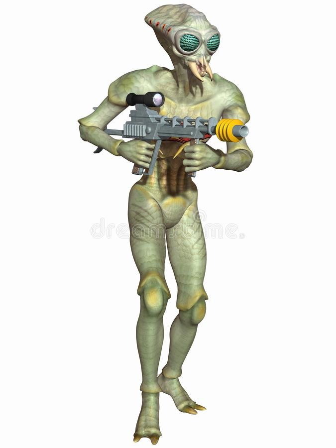 Insectoid - Fantasy Alien Figure royalty free illustration