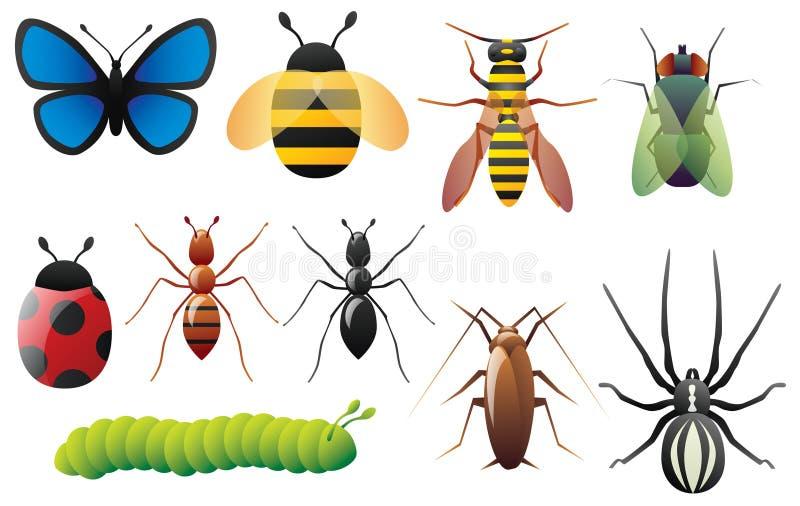 Insectos stock de ilustración