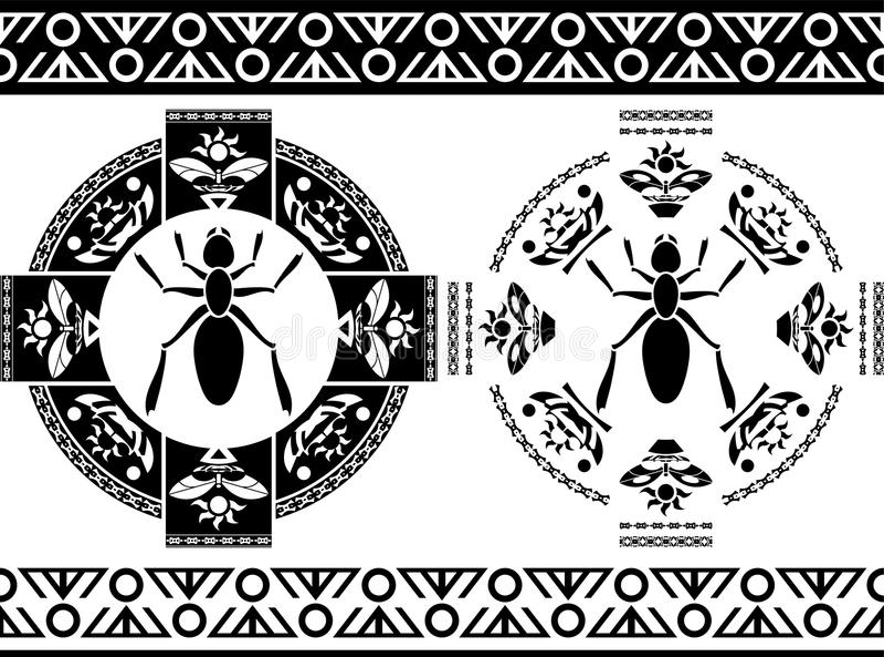 Insectos antiguos stock de ilustración