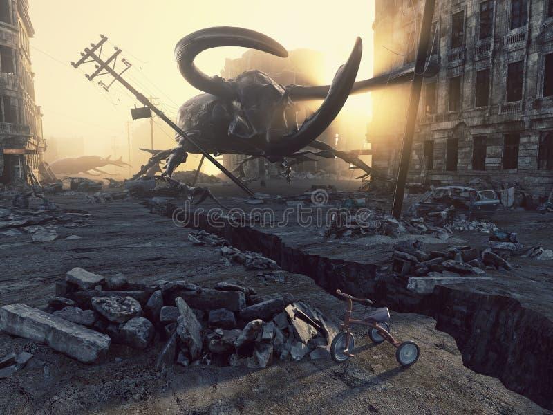 Insectos gigantes apocalípticos ilustración del vector