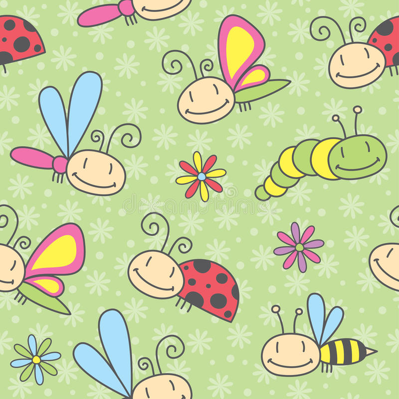 Insects pattern royalty free stock images