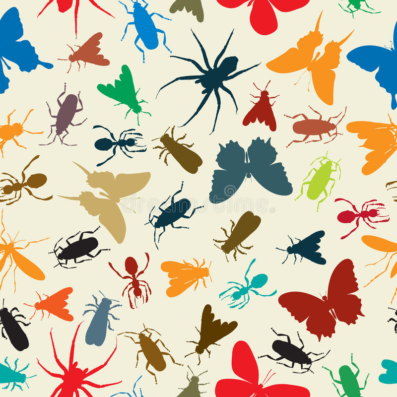 Download Insects pattern stock vector. Illustration of animal - 26857078