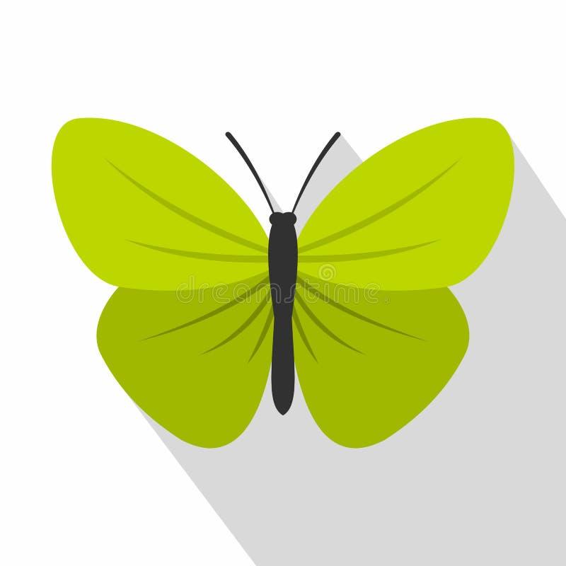 Insectvlinder met klein vleugelspictogram, vlakke stijl vector illustratie