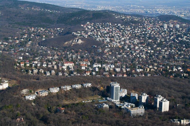 Insediamento di Hillside a Budapest fotografie stock libere da diritti